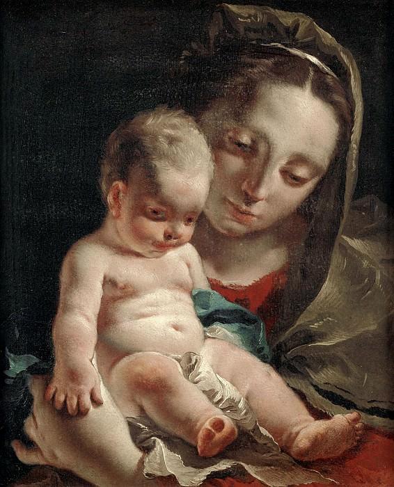 MADONNA WITH THE CHILD. Giovanni Battista Tiepolo