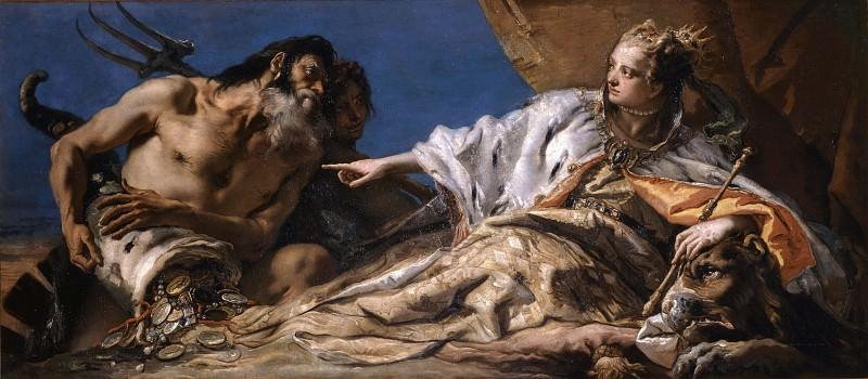 Neptune presents the gifts of the sea to Venetia. Giovanni Battista Tiepolo