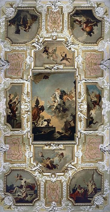 Our Lady of Carmel giving the scapular to St. Simon Stock. Giovanni Battista Tiepolo