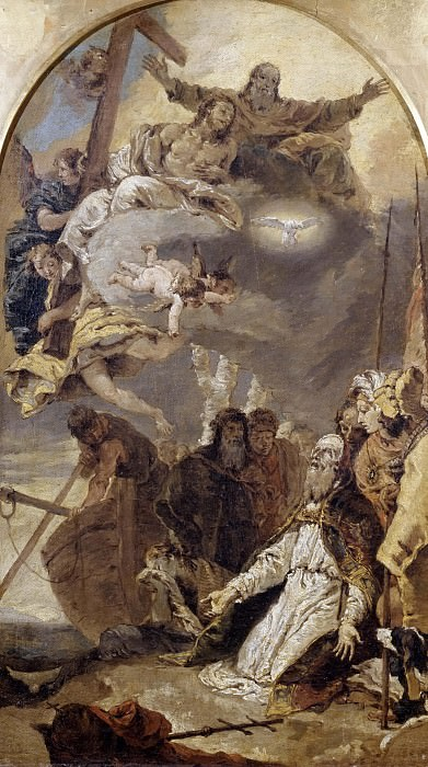 The Trinity in glory appears to Pope Clement I. Giovanni Battista Tiepolo