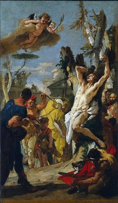The Martyrdom of St. Sebastian. Giovanni Battista Tiepolo