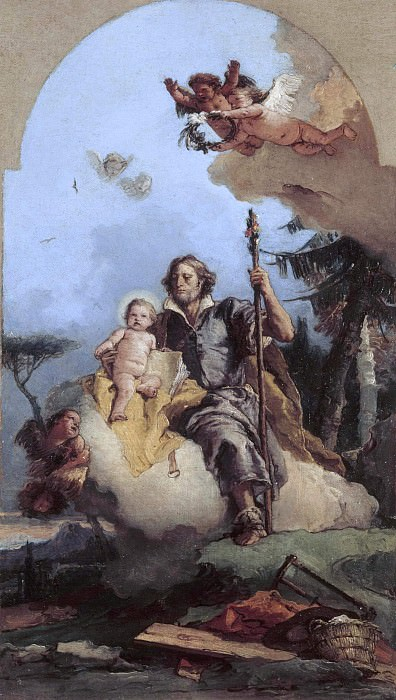 Saint Joseph with the Christ Child. Giovanni Battista Tiepolo