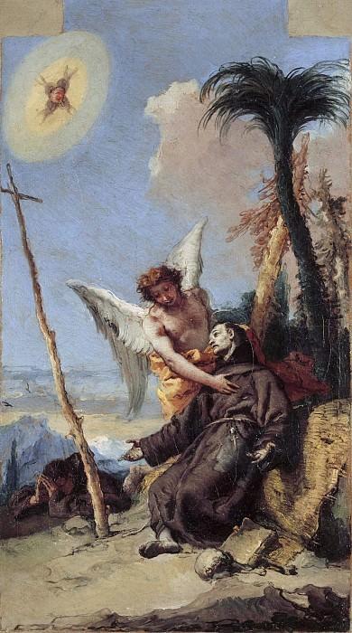 Stigmatization of Saint Francis. Giovanni Battista Tiepolo