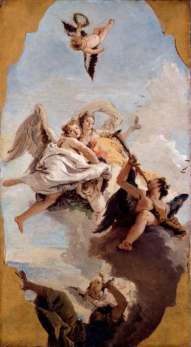 Virtue, Nobility and Ignorance. Giovanni Battista Tiepolo