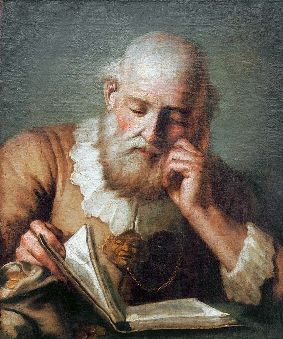 Old man reading. Giovanni Battista Tiepolo