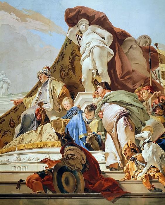 The Judgment of Solomon, detail. Giovanni Battista Tiepolo