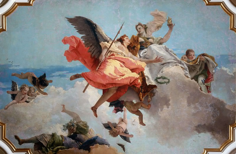 Virtue and Nobility Triumphing over Ignorance. Giovanni Battista Tiepolo