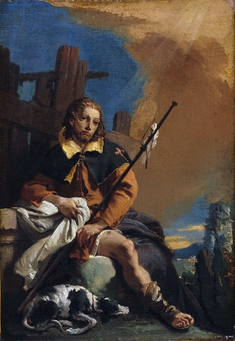 Saint Roch as a Pilgrim. Giovanni Battista Tiepolo