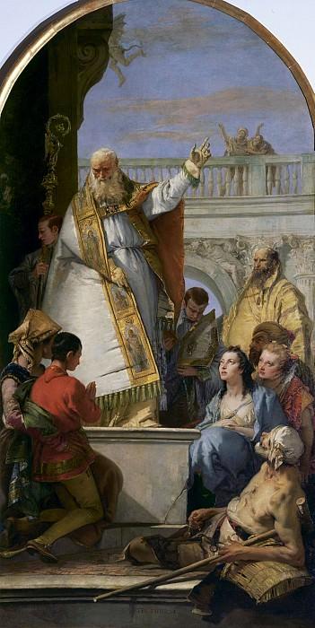 Saint Patrick, Bishop of Ireland. Giovanni Battista Tiepolo
