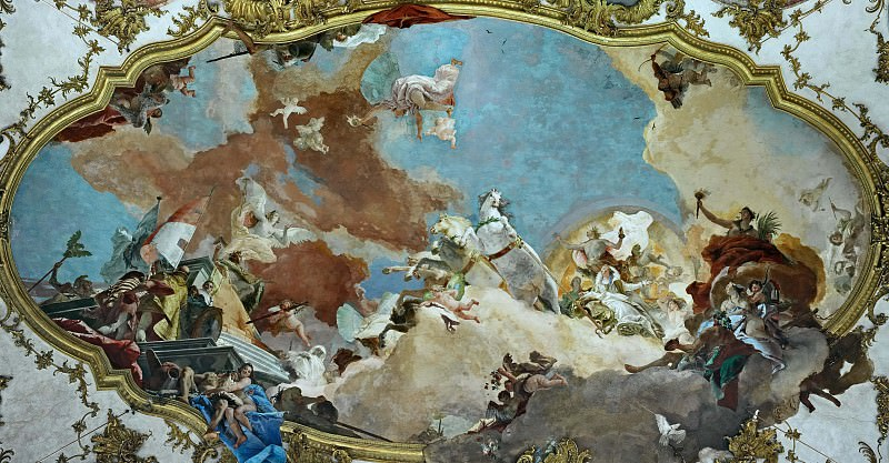 Apollo leads Beatrice of Burgundy as bride to Emperor Frederick Barbarossa. Giovanni Battista Tiepolo