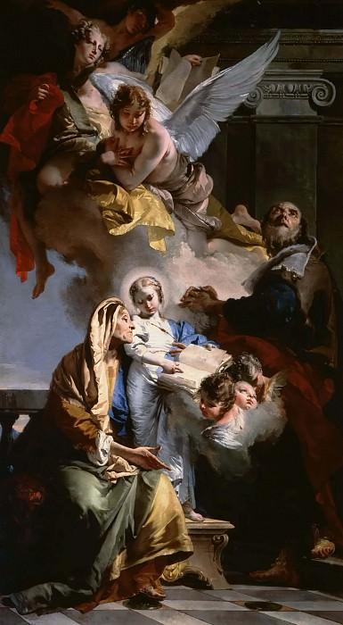 The Education of the Virgin Mary. Giovanni Battista Tiepolo