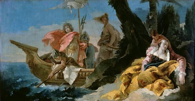 Rinaldo leaves Armida. Giovanni Battista Tiepolo