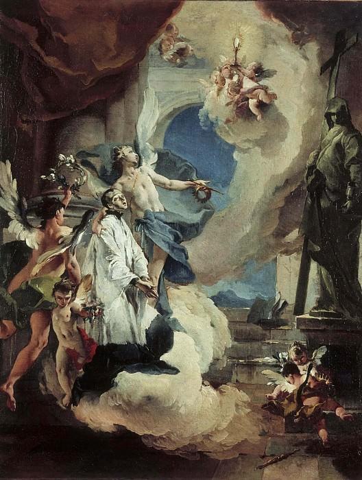 Святой Алоизий Гонзага в славе. Джованни Баттиста Тьеполо