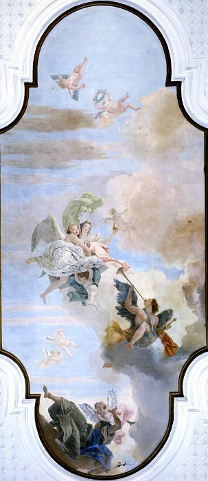 Triumph of Strength and Wisdom over Ignorance. Giovanni Battista Tiepolo