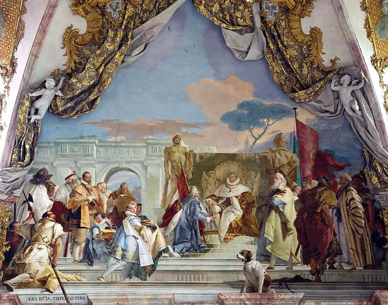 The Investiture of Herold as Duke of Franconia. Giovanni Battista Tiepolo