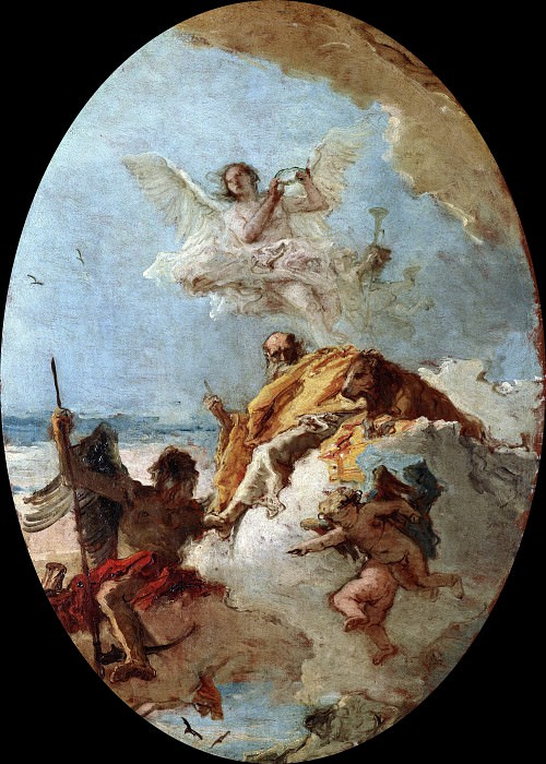Triumph of Valor over Time. Giovanni Battista Tiepolo