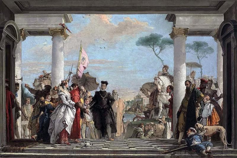 Прибытие Генриха III на виллу Контарини. Джованни Баттиста Тьеполо
