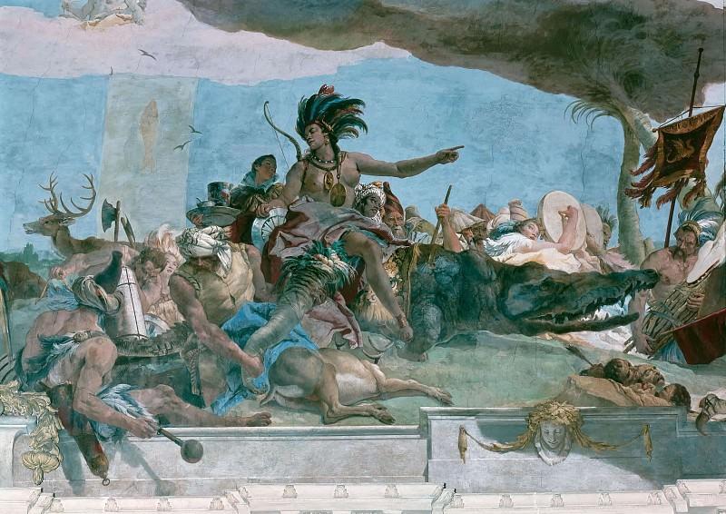 Apollo and the Continents, detail - America. Giovanni Battista Tiepolo