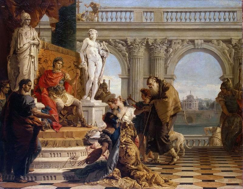 Maecenas Presenting The Liberal Arts To The Emperor Augustus. Giovanni Battista Tiepolo