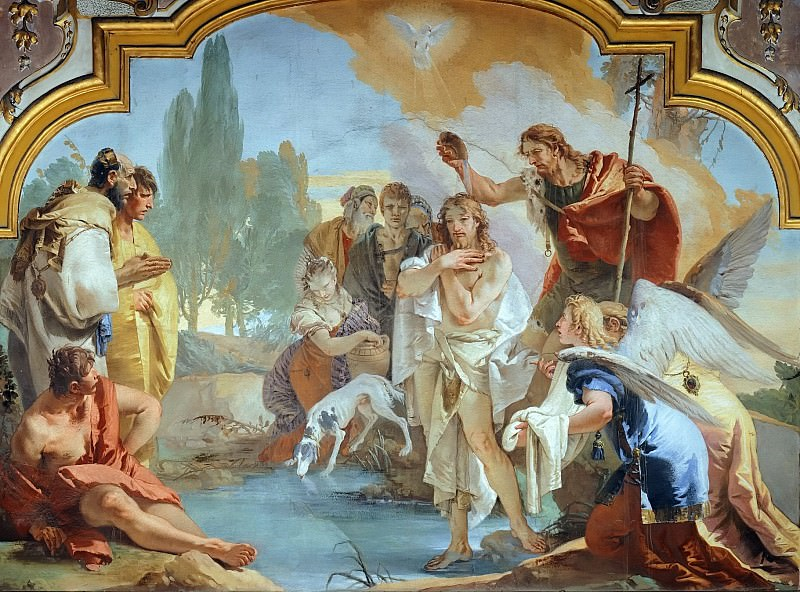 Baptism of Christ. Giovanni Battista Tiepolo