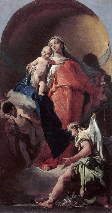 Virgin and Child with an Angel. Giovanni Battista Tiepolo