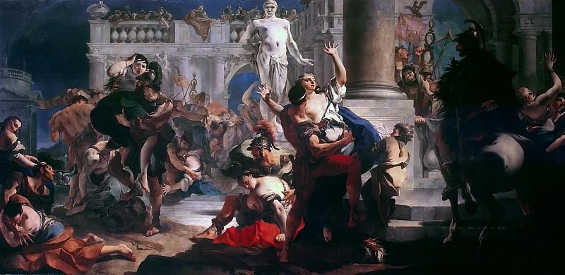 Rape of the Sabine Women. Giovanni Battista Tiepolo