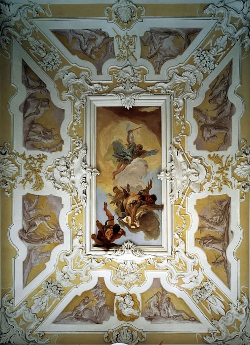 Falling angels and scenes from Genesis. Giovanni Battista Tiepolo