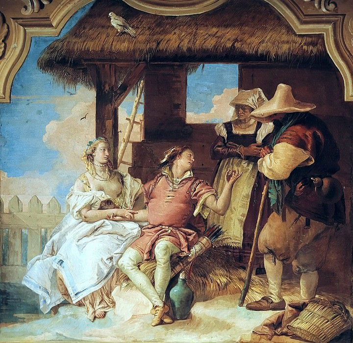 Angelica and Medoro with the Shepherds. Giovanni Battista Tiepolo