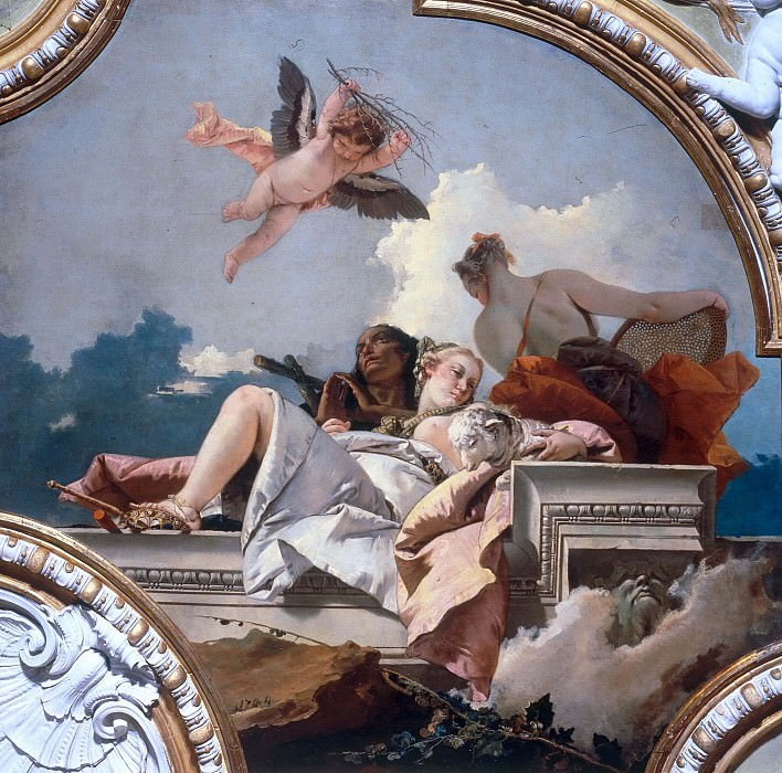Humility, meekness and truthfulness. Giovanni Battista Tiepolo