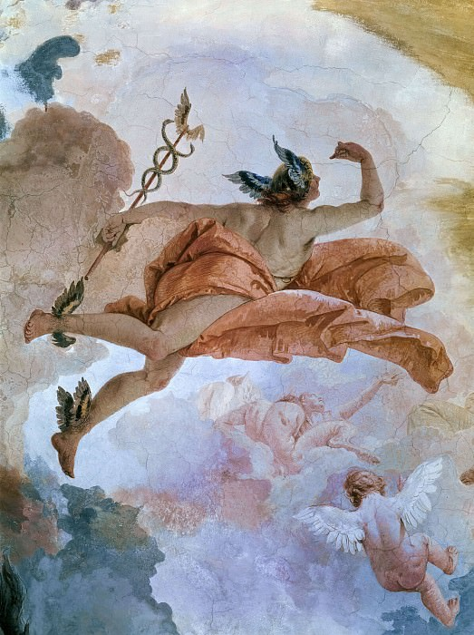Course of the Chariot of the Sun (detail). Giovanni Battista Tiepolo