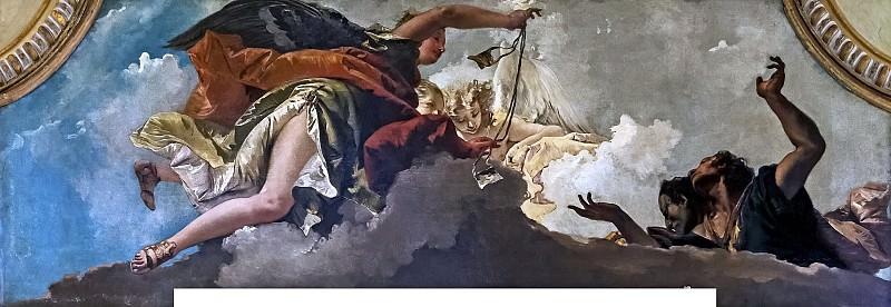 Ангел в красном приносит образки для верующих. Джованни Баттиста Тьеполо