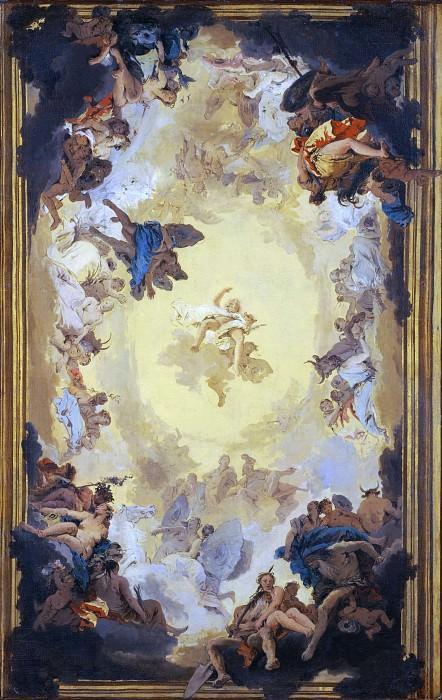 Apollo and the Continents. Giovanni Battista Tiepolo