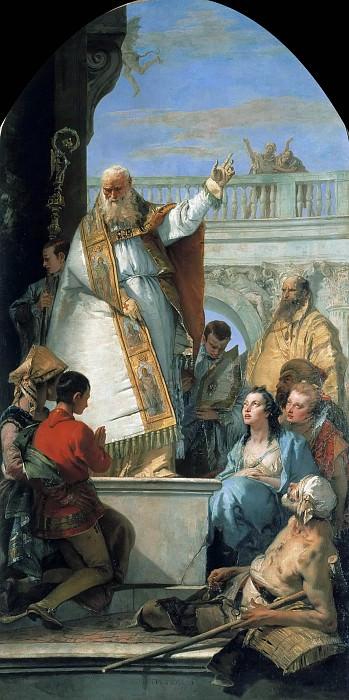 The Miracle of St. Patrick of Ireland. Giovanni Battista Tiepolo