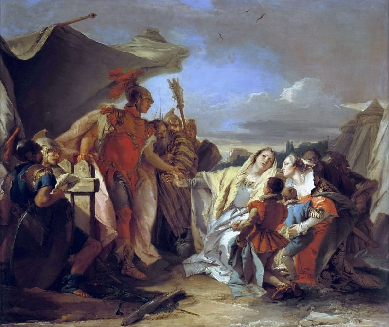 Coriolanus at the walls of Rome. Giovanni Battista Tiepolo