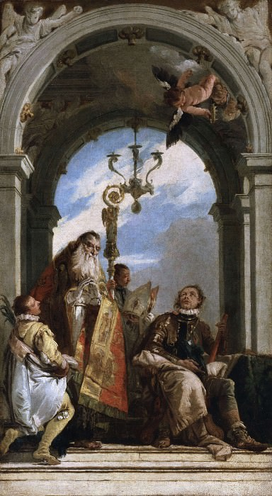 San Procolo bishop of Verona visits the Saints Firmus and Rusticus. Giovanni Battista Tiepolo
