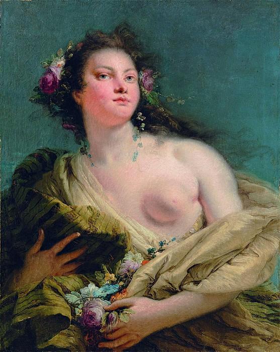 Portrait of a lady as Flora. Giovanni Battista Tiepolo