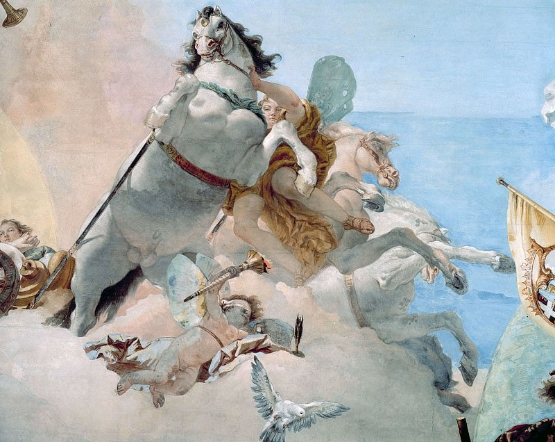 Wedding Allegory (detail). Giovanni Battista Tiepolo