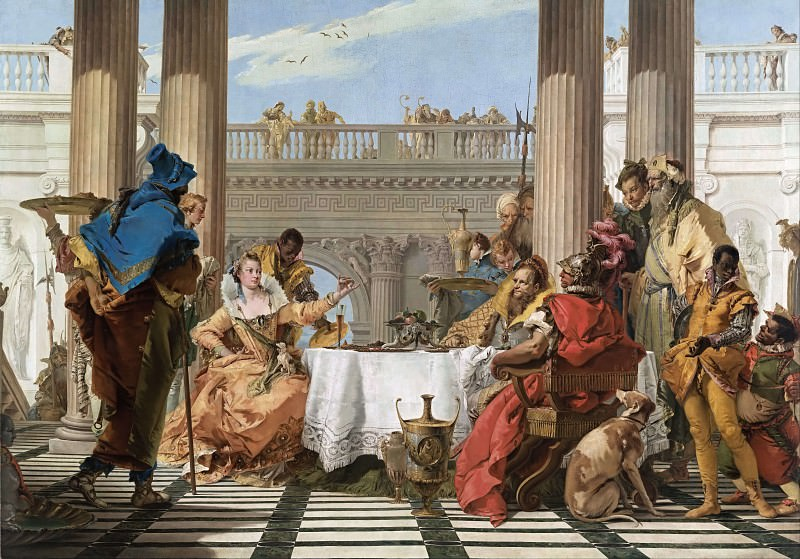 The Banquet of Cleopatra. Giovanni Battista Tiepolo