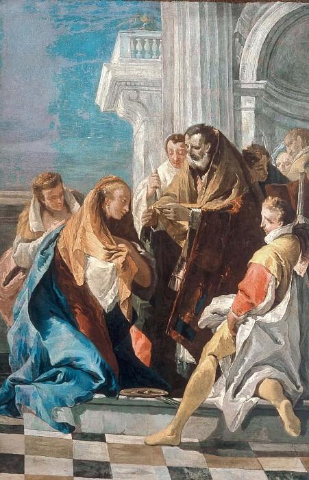 The Communion of St. Lucia. Giovanni Battista Tiepolo