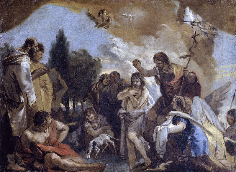 Baptism of Christ. Giovanni Battista Tiepolo (workshop)