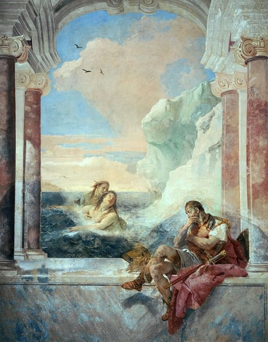 Фетида утешает Ахиллеса. Джованни Баттиста Тьеполо