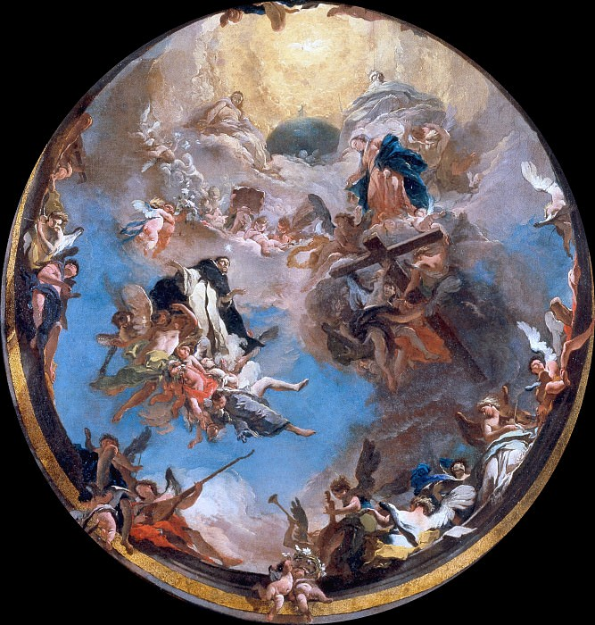 Saint Dominic in Glory. Giovanni Battista Tiepolo