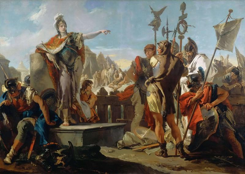 Обращение царицы Зенобии к своим солдатам. Джованни Баттиста Тьеполо