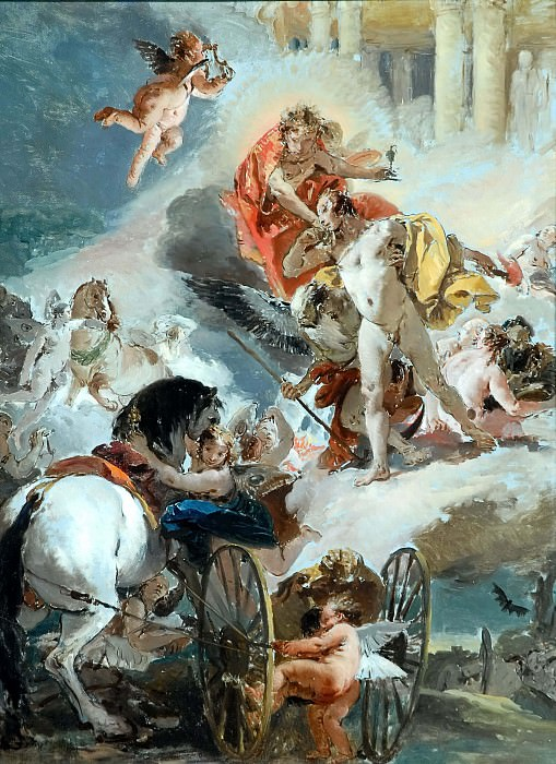 The Harnessing of the Horses of the Sun. Giovanni Battista Tiepolo