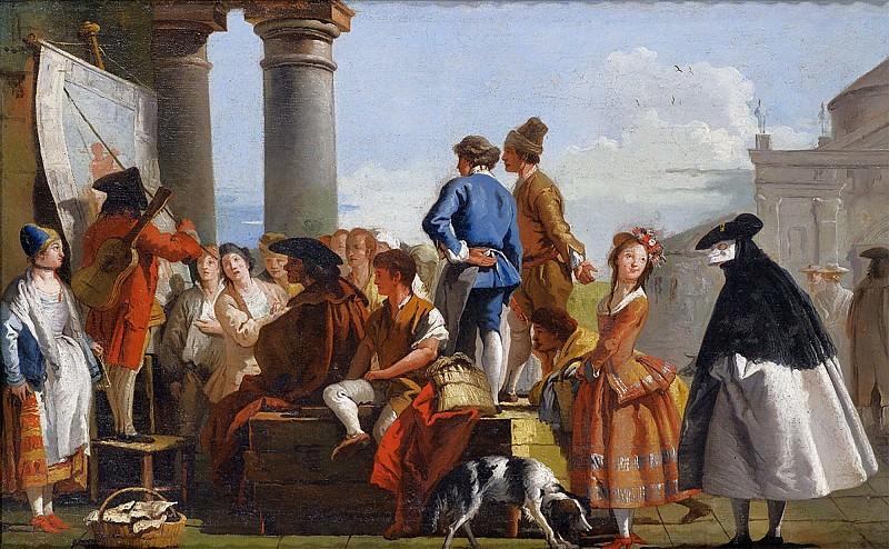 The Ballad Singer. Giovanni Battista Tiepolo
