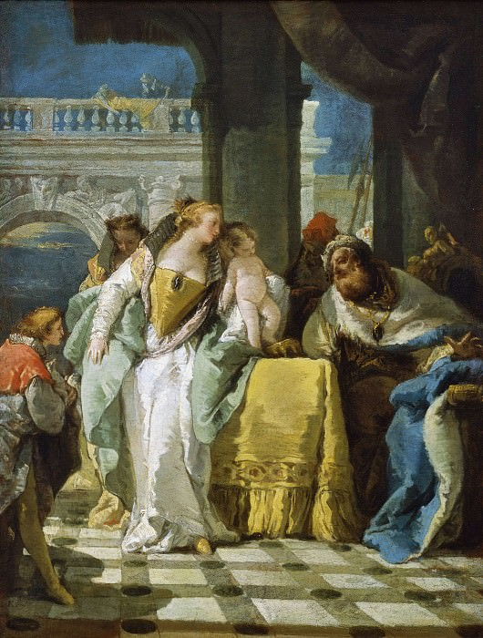 The Child Moses Spurns the Crown of Pharaoh. Giovanni Battista Tiepolo