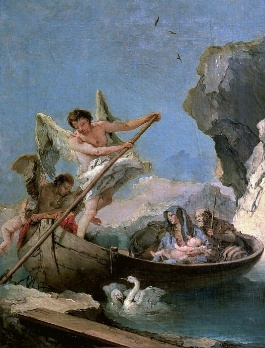 The Flight into Egypt. Giovanni Battista Tiepolo