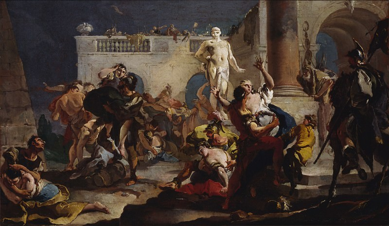 The Rape of the Sabine Women. Giovanni Battista Tiepolo