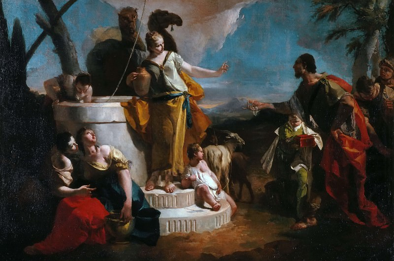 Meeting of Rebecca and Eleazaro at the well. Giovanni Battista Tiepolo