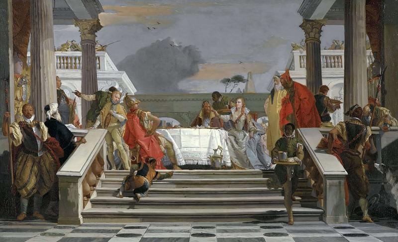 The Banquet of Cleopatra. Giovanni Battista Tiepolo (Studio)